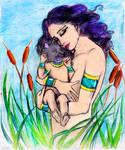 Nepthys and Anubis by falkolia