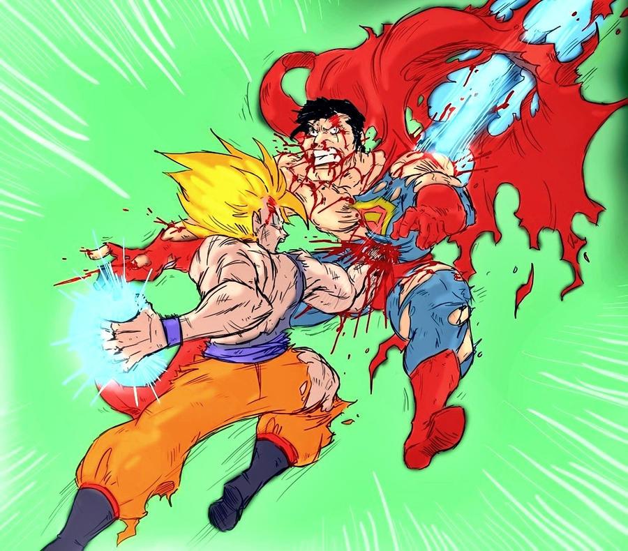 goku ssj3 vs superman - photo #33