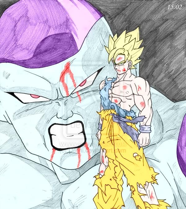 SSJ Goku vs Frieza by ssjgogeto