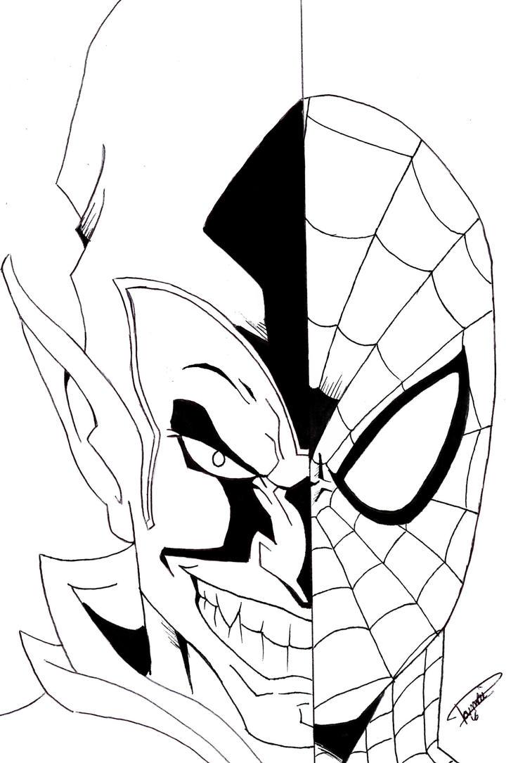 spiderman hobgoblin coloring pages-#40