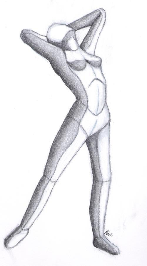 Anatomy study 1.5 - full body by dragonsketcher85