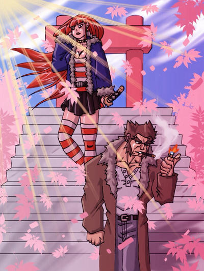 Wolverine and Yukio by Leonidas666