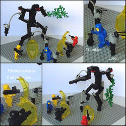 Lego Fighting the Eidolon