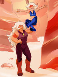 Jasper and Skinny Jasper - Steven Universe by UnicaGem