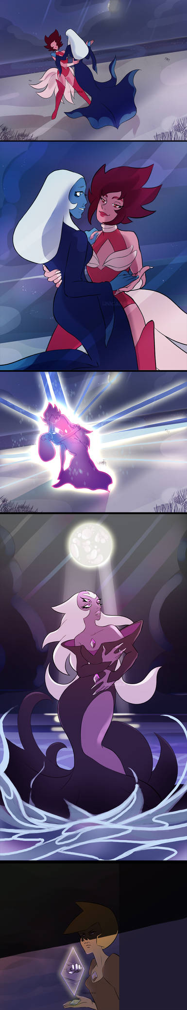 Pink and Blue fusion - PURPLE DIAMOND