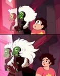 Centipeetle and Steven screenshot redraw