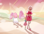 Pearl and Pink Diamond