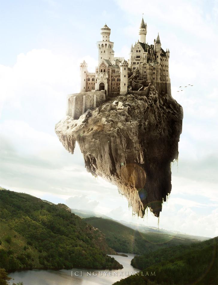 Flying castle anime