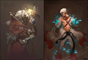 Ragnarok - Champ and Hight Wiz by skazi222