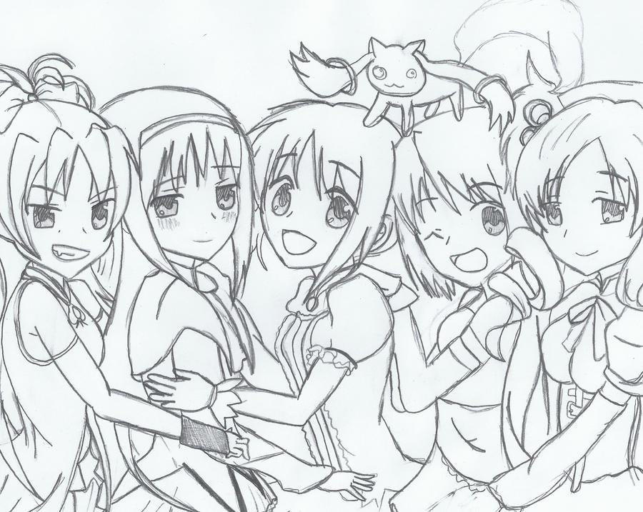 Puella Madoka Magica Girls By ShionxSonozaki