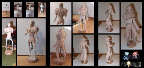 working with sculpey: Kuja FF9