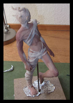 Sculpey WIP: The four horned demon