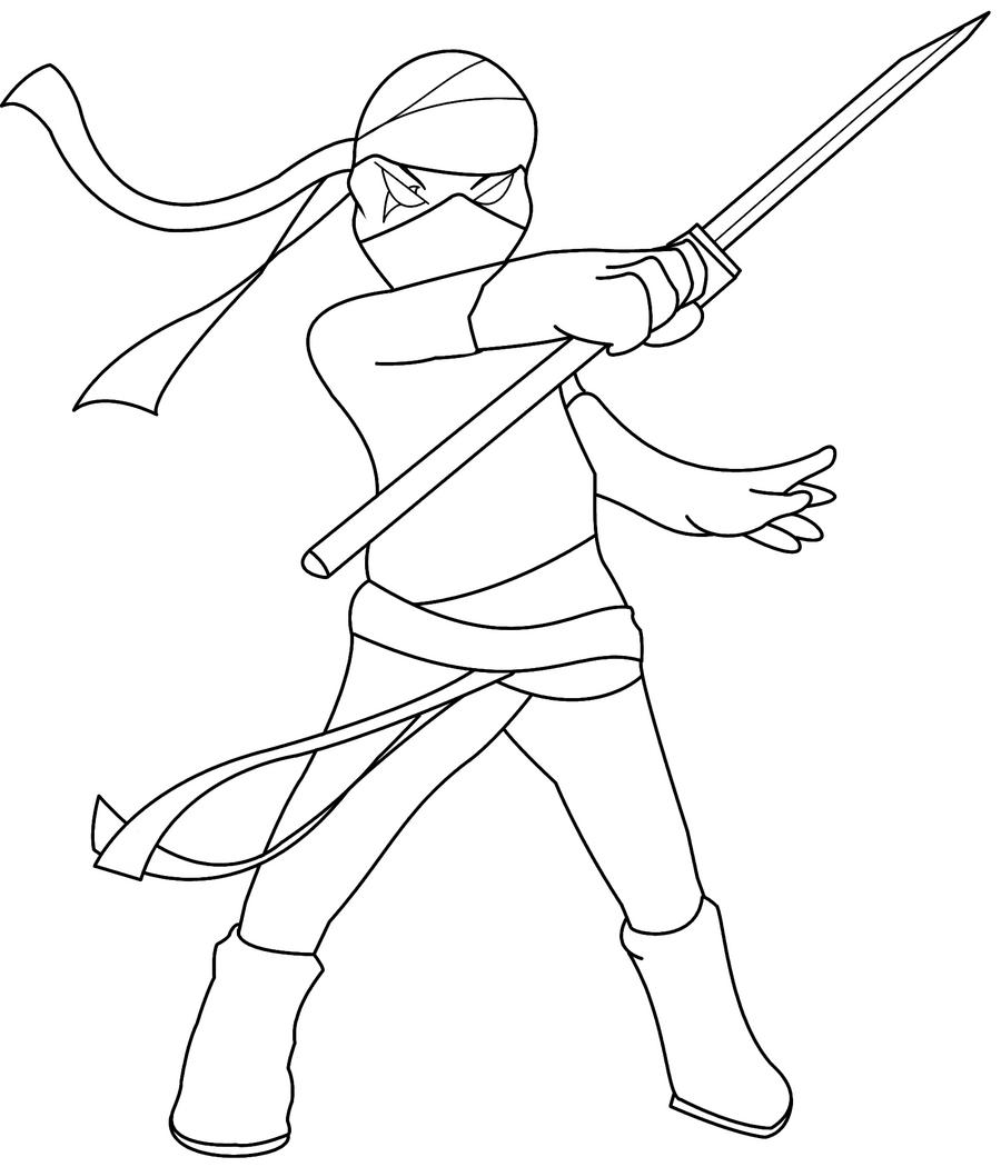 Line Art Ninja : Ninja lineart by xkinomix on deviantart