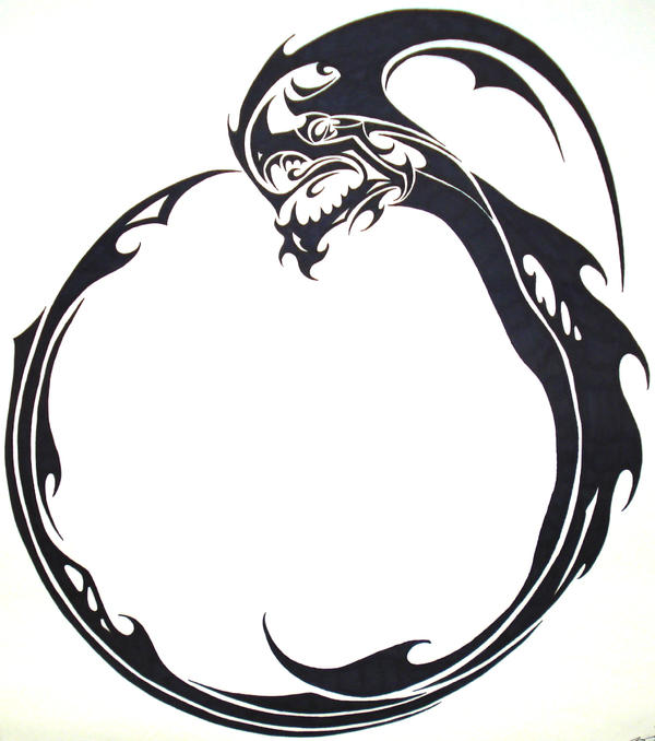 Ouroboros indep by jordarad on deviantart for Snake eating itself tattoo