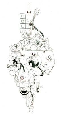 Sugar skull gameboy