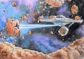 The Starship Enterprise by Timedancer