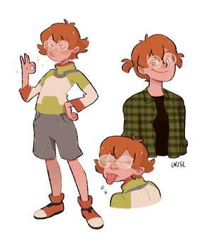 a cute nerd