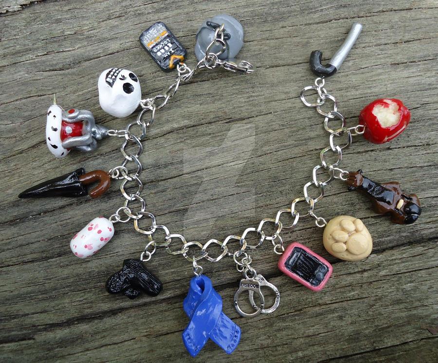 Revamped I Believe in Sherlock Charm Bracelet by geeekalicious