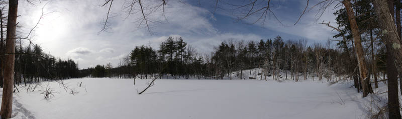 Snow-Covered Lake Panorama by dseomn