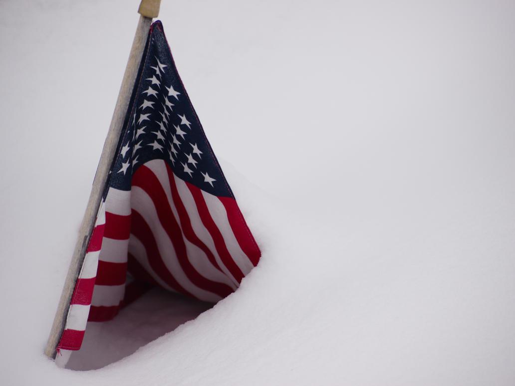 USA Flag Snow Tent by dseomn