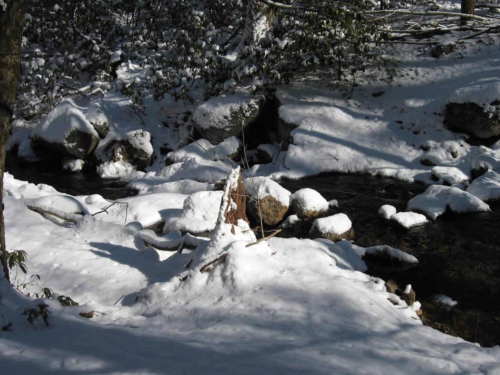 Snowy Stream by dseomn