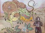Dragon and samuri