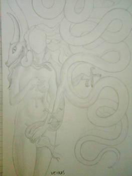 Venus with a dragon