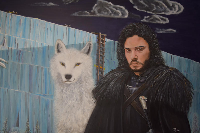 The Ice wall with Jon Snow by killerscorpio