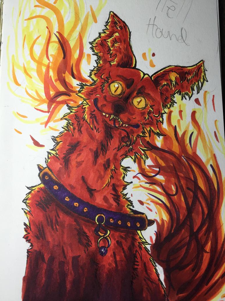 Hells hound  by wolfstina