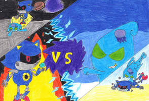 Metal sonic vs chaos. Street fighter mode by pawniards