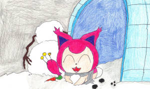 Lets build a snowman with skitty by pawniards