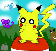 Pikachu doodle thing by pawniards