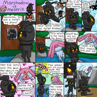 Battle! Marshadow vs Mesprit (P1) by pawniards
