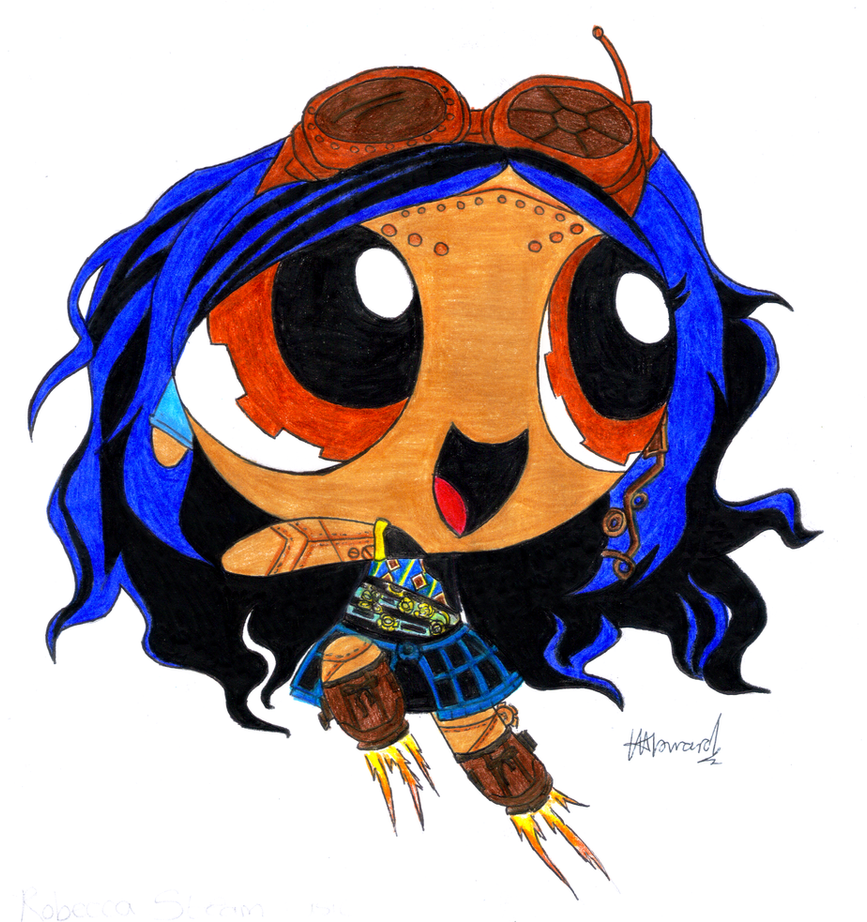 Monster high powerpuffs robecca steam by randomobsessive on deviantart - Monster high robecca steam ...