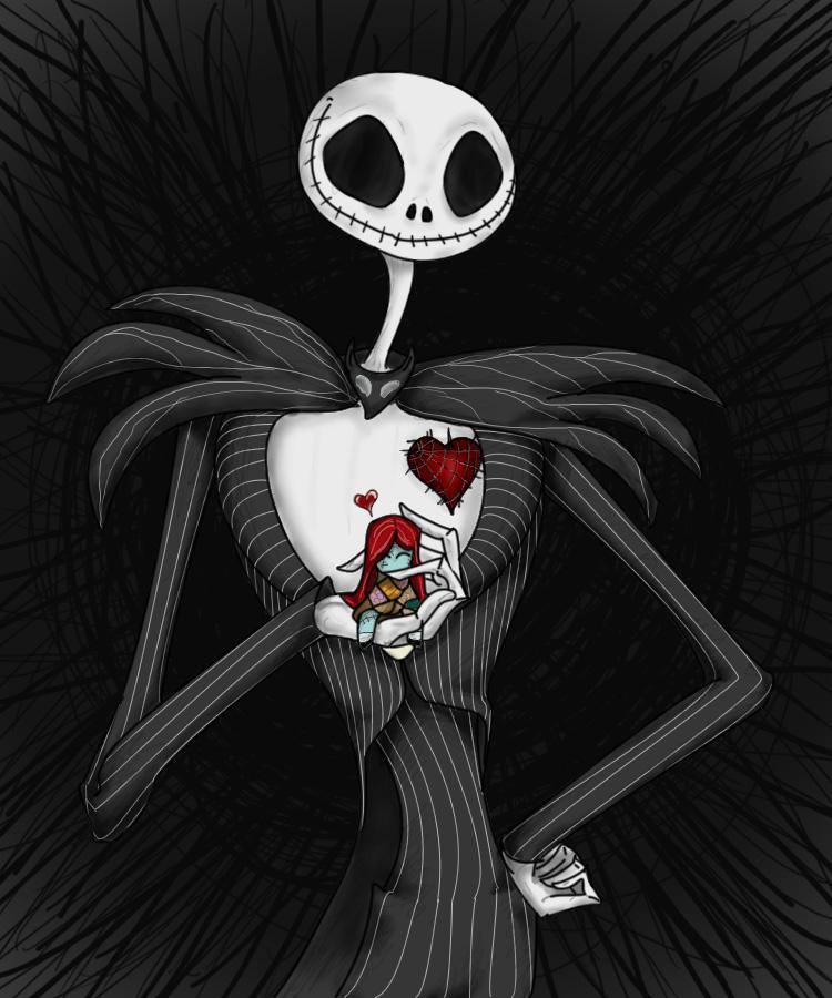 Jack loves Sally doll by LiluSkitten