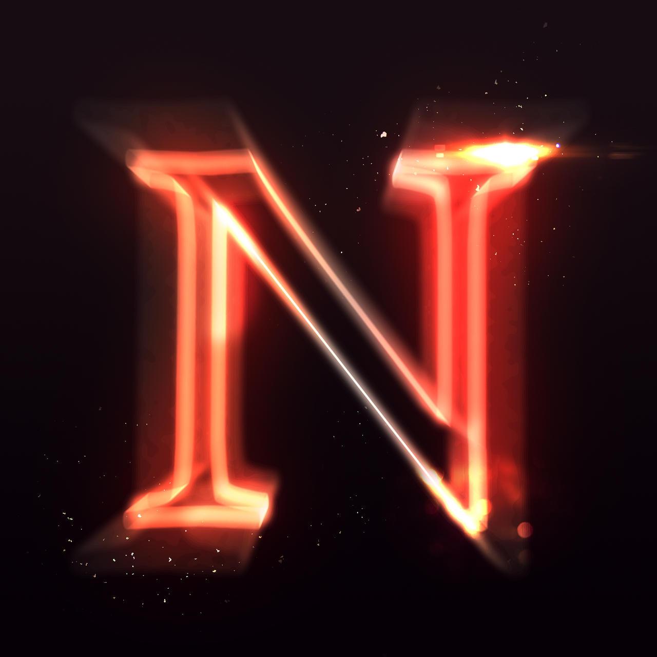 letter n by shaat2 on deviantart