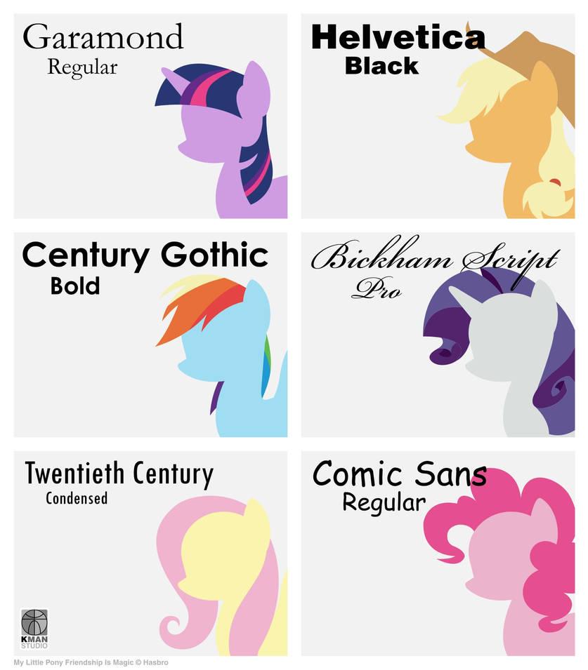 Font Ponies