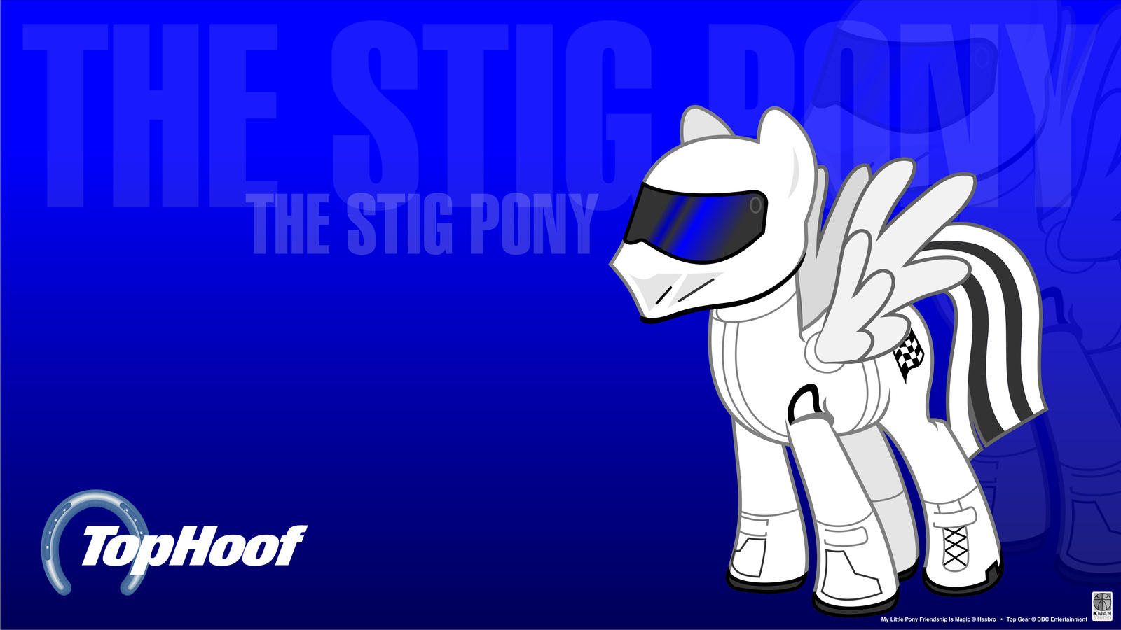 The Stig Pony Wallpaper by Kman-Studio