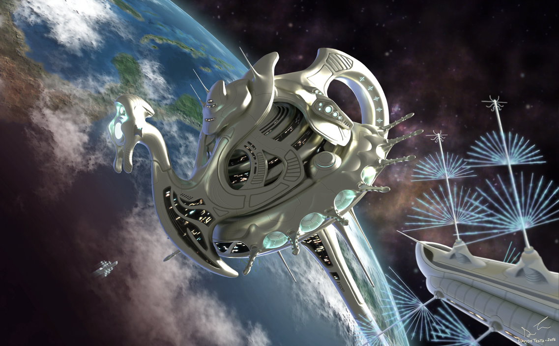 Russell's Teapot Space Station by Tesla91