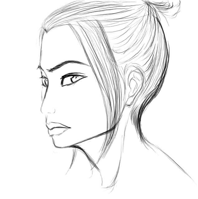 Azula sketch by dragonaeve