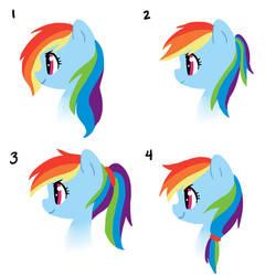 Older Rainbow Dash by kianamai