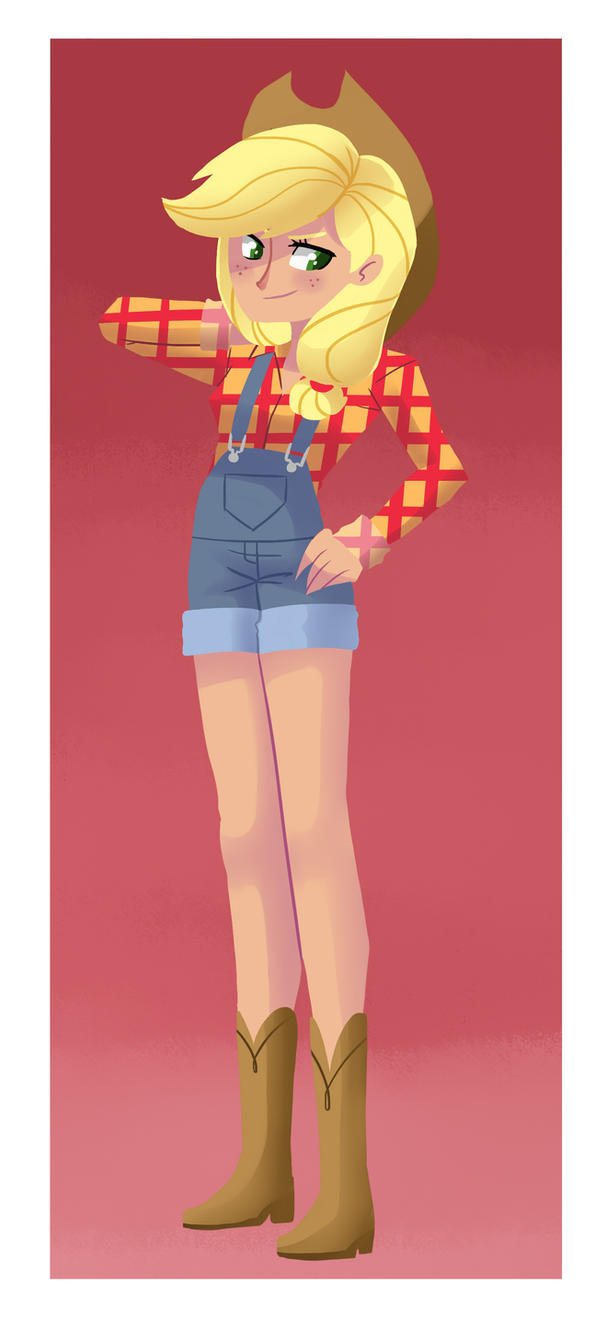 Humanized Applejack by kilala97