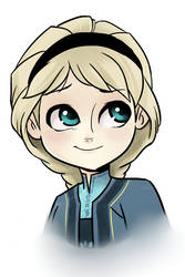 Young Elsa by kianamai
