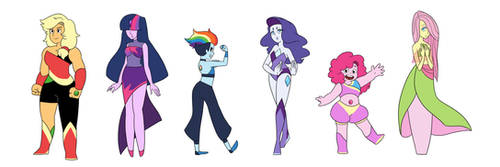 My Little Crystal Gems by kianamai
