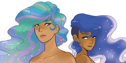 Human!Princesses Headshots