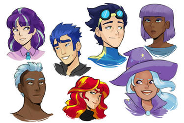 Human!Side Character Headshots