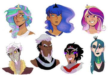 Human!Princesses and Villains Headshots