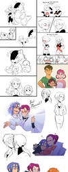 Pokemon Shipping/Next Gen Doodles by kianamai