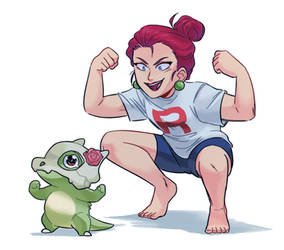 Jessie and Cubone