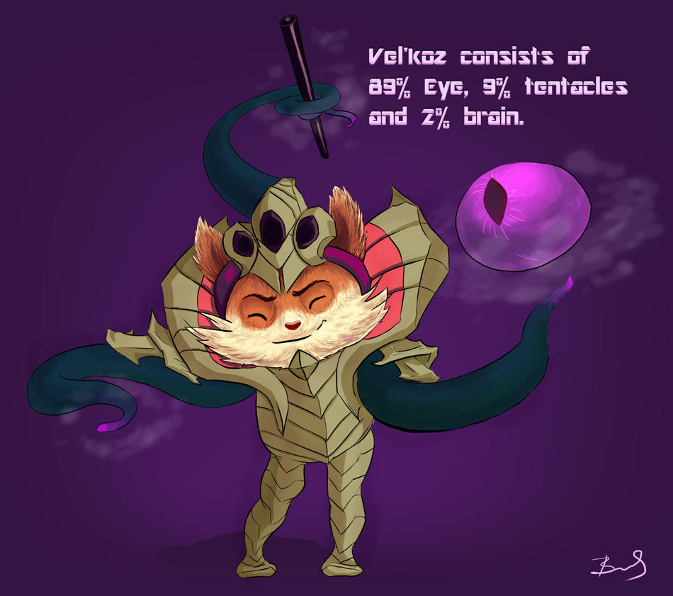 LoL Teemo in a Vel'Koz costume by Viki-chii